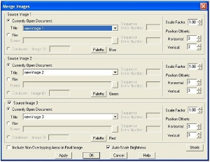 Merge image dialog box
